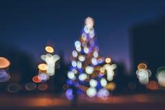 Defocused Weihnachtsbaum Stockfoto