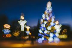 Defocused Weihnachtsbaum Lizenzfreie Stockbilder