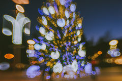 Defocused Weihnachtsbaum Lizenzfreie Stockfotos