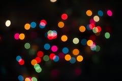 Defocused Weihnachtsleuchtehintergrund Lizenzfreies Stockfoto