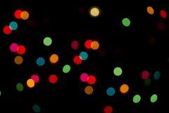 Defocused Weihnachtsleuchtehintergrund Lizenzfreie Stockfotografie