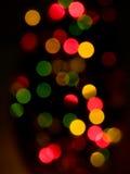 Defocused Weihnachtsleuchten Lizenzfreies Stockbild