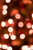 Defocused Weihnachtsleuchten Stockfotos