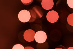 Defocused Weihnachtsleuchten Stockfotografie