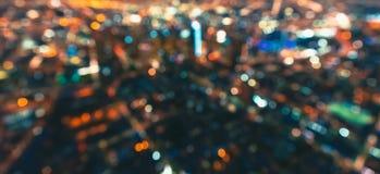 Defocused widok z lotu ptaka W centrum Los Angeles zdjęcia royalty free