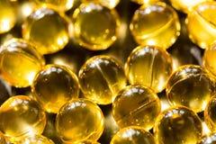 Defocused yellow golden balls. Festive bright background royalty free stock image