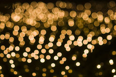 Defocused yellow light dots Royalty Free Stock Images