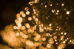 Defocused yellow light effect Royalty Free Stock Photos