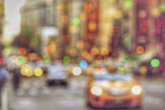 Defocused yellow taxi cabs Royalty Free Stock Image