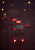 Defocused, zamazany miastowy abstrakcjonistyczny ruchu drogowego tło, Fotografia Royalty Free