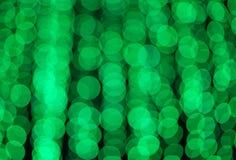 Defocused zielonych świateł tła abstrakcjonistyczna fotografia Obrazy Stock
