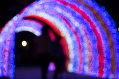 Defocusedlicht bokeh in Feestelijk elegant abstract verstand als achtergrond Stock Foto