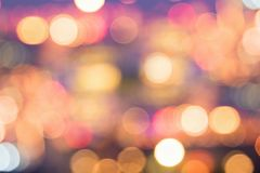 Defocuseds holiday bokeh lights at night stock images