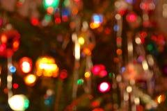 defocussed的圣诞树光 库存照片