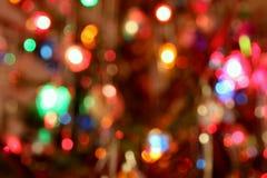 defocussed的圣诞树光 免版税库存照片