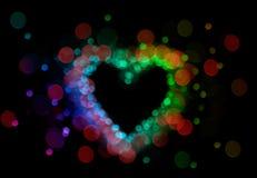 defocussed света сердца стоковое фото rf