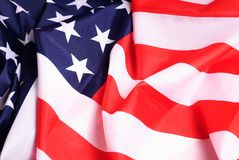 Defocussed American flag,. Blurred background, a template Stock Photos