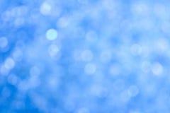 Defocussed blu astratto illumina la priorità bassa Fotografia Stock Libera da Diritti