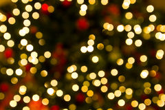 Defocussed christmas lights Royalty Free Stock Photos