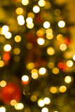Defocussed christmas lights Royalty Free Stock Photography