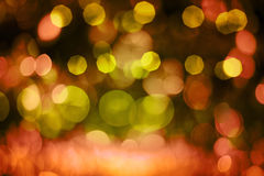 Defocussed Red and Yellow Light Pattern Royalty Free Stock Photo