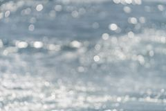 Defocussed water surface of the sea or ocean royalty free stock image