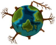 A deforestation earth icon. Illustration stock illustration