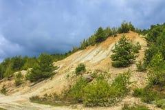 Deforestation and erosion Royalty Free Stock Photo