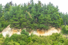 Deforestation and erosion Royalty Free Stock Image