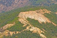 Deforestation och erosion arkivfoto