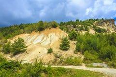 Deforestation och erosion Royaltyfria Bilder
