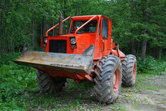 Deforestation tractor stock photo
