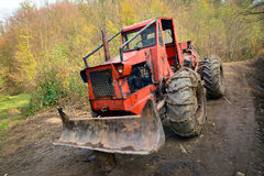 Deforestation tractor Royalty Free Stock Images