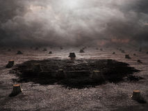 Deforested landscape Stock Photo
