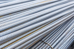 The deform bar, the steel deform bar pile Royalty Free Stock Image
