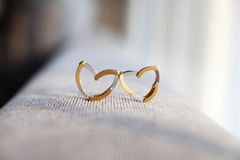 Deformable wedding rings Stock Photo