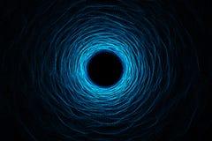 Deformación abstracta del túnel de la velocidad en espacio, wormhole o calabozo, escena de superar el espacio temporal en cosmos  ilustración del vector