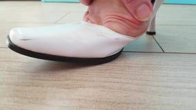 Deformación de la junta en el pie, artritis el problema del zapato almacen de video