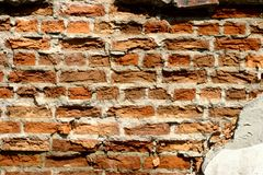 Deformation of the brickwork. royalty free stock photos