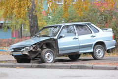 Deformation of the car. For transport a result of road accidents - a broken back and side parts Stock Images