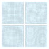 Deformation grid. Set of four spatial forms - convex, concave,  Royalty Free Stock Images