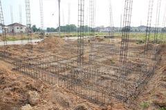 Deforme a barra, construção de aço. Fotos de Stock Royalty Free