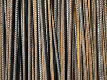 Deformed bars Steel shafts Stock Photography