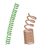 Deformed Chrome and green springs Royalty Free Stock Photo
