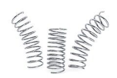Deformed Chrome springs Stock Photo