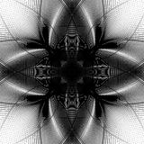 Deformed monochrome pattern. Abstract geometric distorted elemen Royalty Free Stock Photography