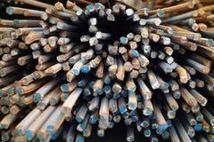 Deformed stålsätter bommar för Fotografering för Bildbyråer