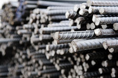 Deformed steel bars Royalty Free Stock Photography