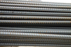 Deformed steel bars Royalty Free Stock Image