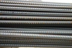 Deformed steel bars Royalty Free Stock Image